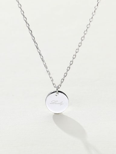 custom 925 sterling silver round minimalist initials necklace