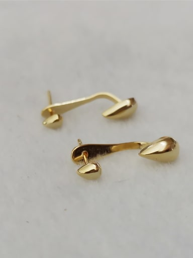 Gold Plated 925 Sterling Silver Water Drop Minimalist Stud Earring