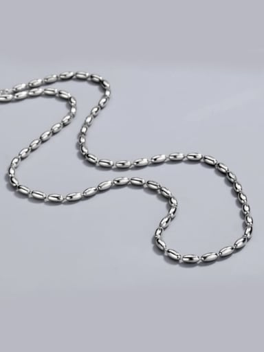 Vintage silver 925 Sterling Silver Beaded Chain Necklace 11.8g