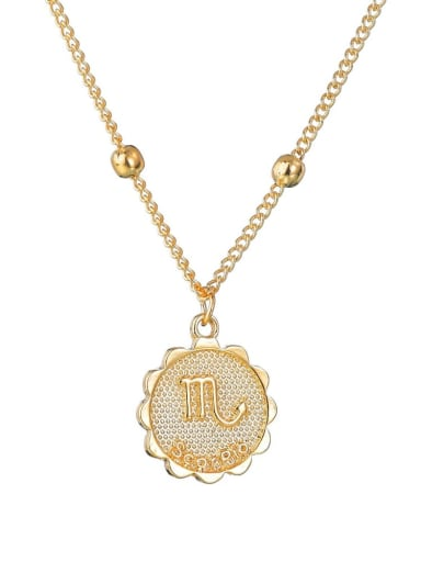 Alloy with Rhinestone Classic Zodiac Necklace