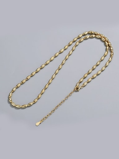 Gold Plated 925 Sterling Silver Beaded Chain Necklace 11.8g