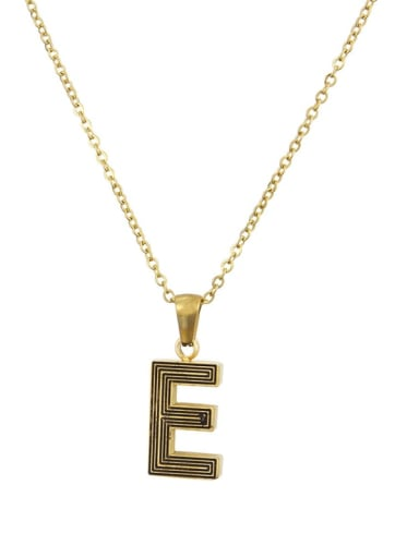 E Stainless steel Letter Initials 26 Letter a to z Necklace