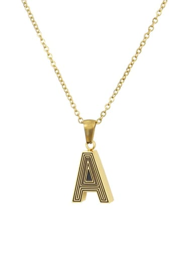 Stainless steel Letter Initials 26 Letter a to z Necklace