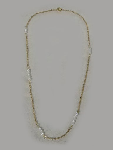 45CM Copper Freshwater Pearl White Minimalist 40CM or 45CM Beaded Necklace