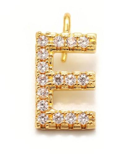 Gold E Copper CZ DIY Letter Artisan Initials Charm