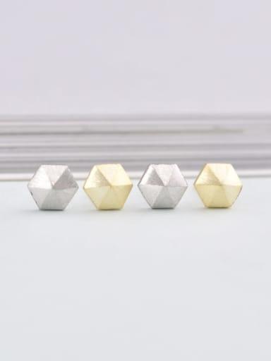 925 Sterling Silver Geometric Minimalist 6mm * 6mm Stud Earring