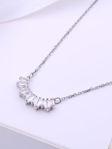 Alloy Swarovski Crystal White Dainty Necklace