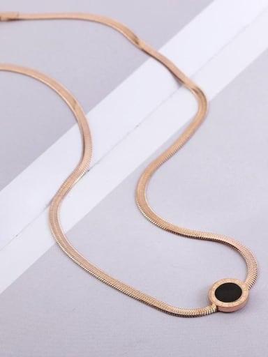 Rome Pendant Titanium Sake Link Necklace