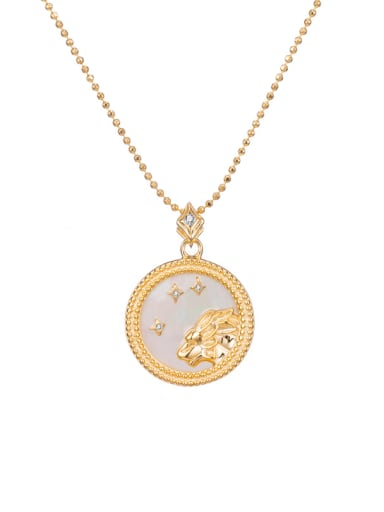 Leo 925 Sterling Silver Shell Constellation Dainty Initials Necklace