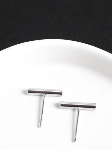 Bold 925 Sterling Silver Geometric Minimalist Stud Earring