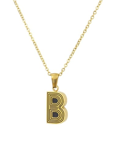 B Stainless steel Letter Initials 26 Letter a to z Necklace