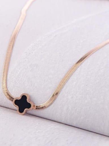 Cove Pendant Titanium Sake Link Necklace
