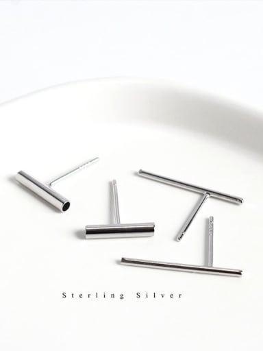 925 Sterling Silver Geometric Minimalist Stud Earring