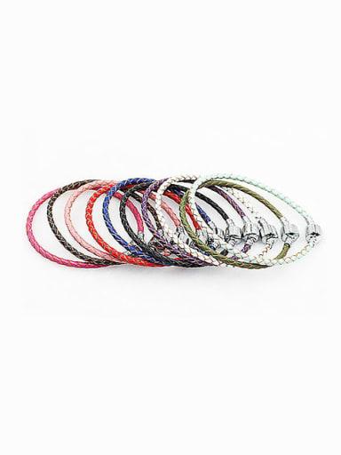 Leather Woven 16-22cm Bracelet