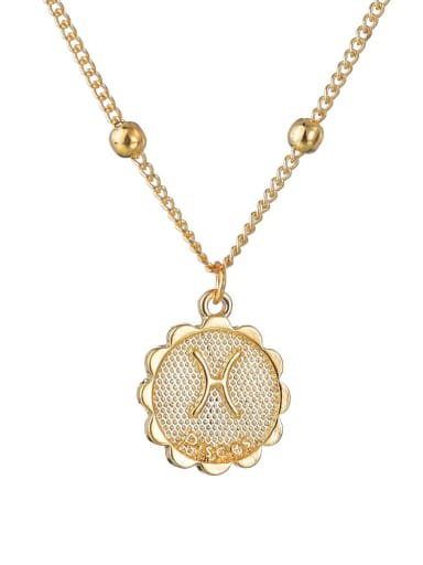 N1688 Alloy with Rhinestone Classic Zodiac Necklace