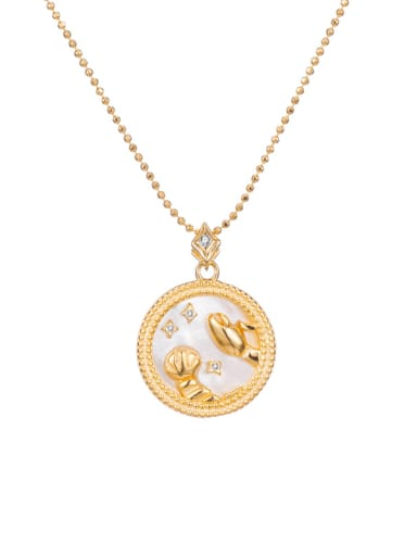Cancer 925 Sterling Silver Shell Constellation Dainty Initials Necklace