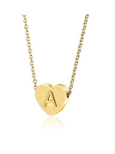 Titanium with Letter A-Z Necklace