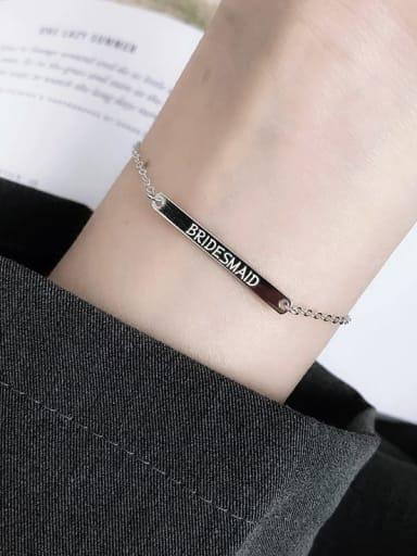 custom 925 Sterling Silver Minimalist Identification Bracelet