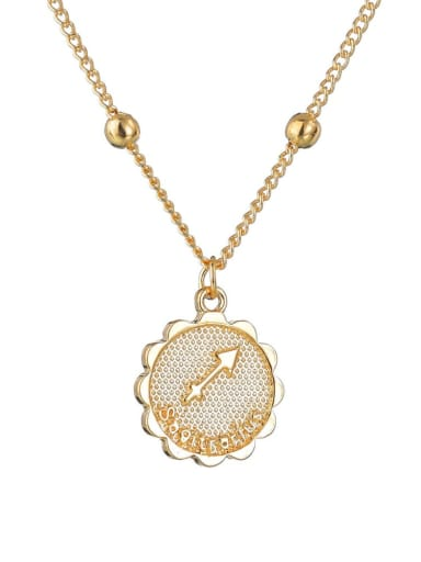 N1689 Alloy with Rhinestone Classic Zodiac Necklace