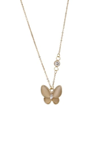 Alloy Cats Eye Butterfly Trend Necklace