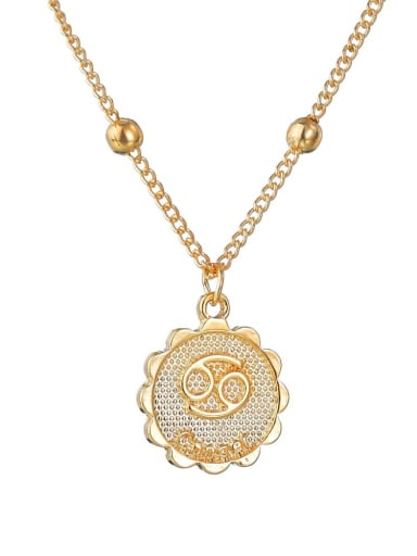 N1690 Alloy with Rhinestone Classic Zodiac Necklace