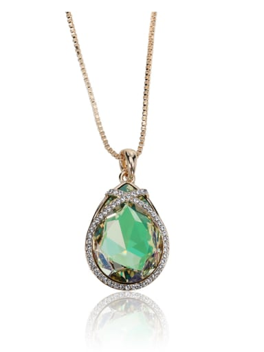 Big Simple Drop shaped Swarovski element crystal necklace Multicolor