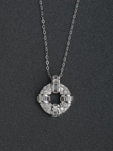 Transshipment cylinder 925 silver necklace