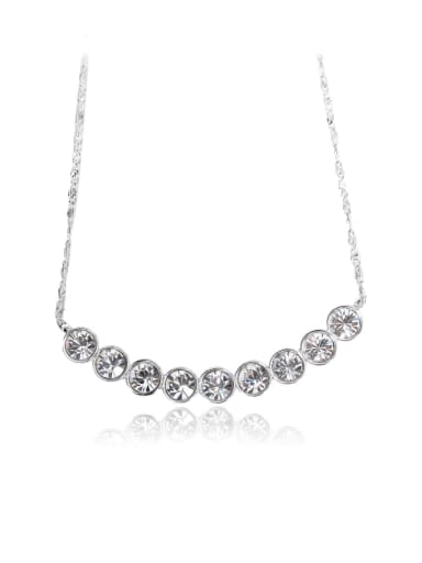 White crystal  Swarovski element crystal necklace