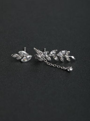 Horse Eye Stone  Zircon Asymmetry  925 silver Stud earrings