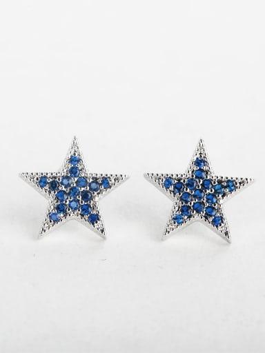 Retro dark blue  star earrings
