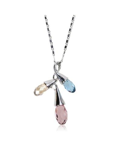 Spring Flowers SWAROVSKI element crystal necklace