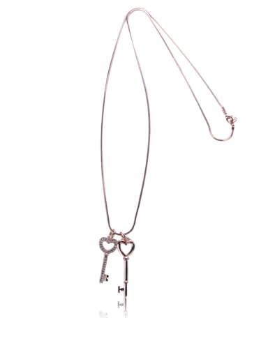 Classic modeling key Long Necklace
