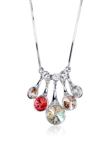 Colorful  Dazzling Swarovski element crystal necklace