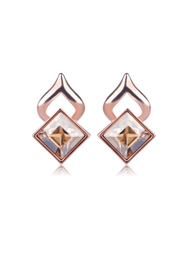 Shaped Crystal Swarovski element crystal Earrings