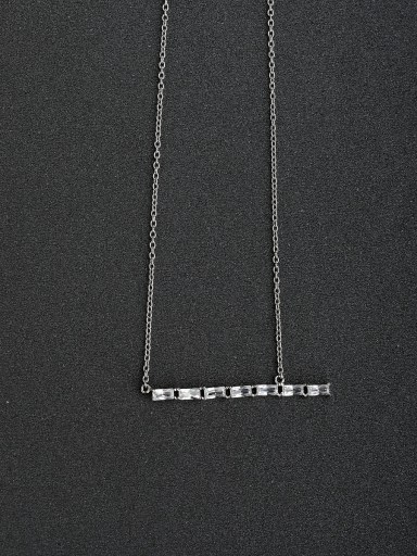 zircon Simple  925 Silver Necklaces