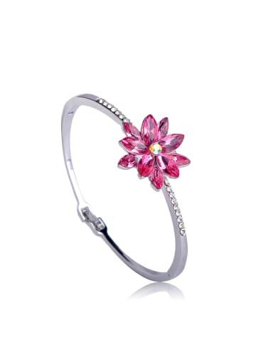 Eye Opal Flowers Swarovski Crystal Elements Bangle