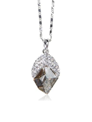 gray Geometric crystal Swarovski element crystal necklace