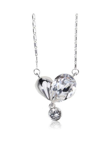 sweet heart element crystal necklace for party Charm