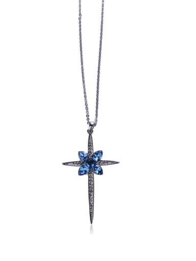 Magnificent semi-precious stones Crosses Long necklaces