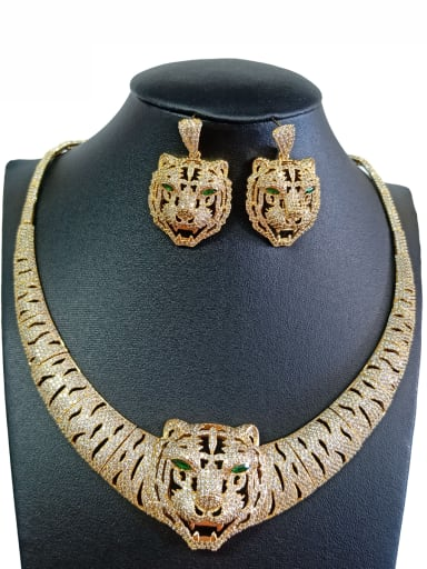 Copper With Gold Plated Luxury Animal Jewelry Sets