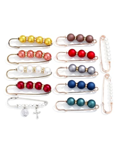Alloy With Gold Plated Trendy clip Brooches