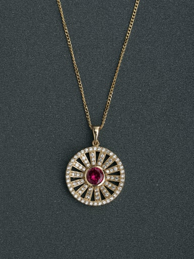 Gorgeous inlaid zircon sunflowers 925 Silver Necklaces