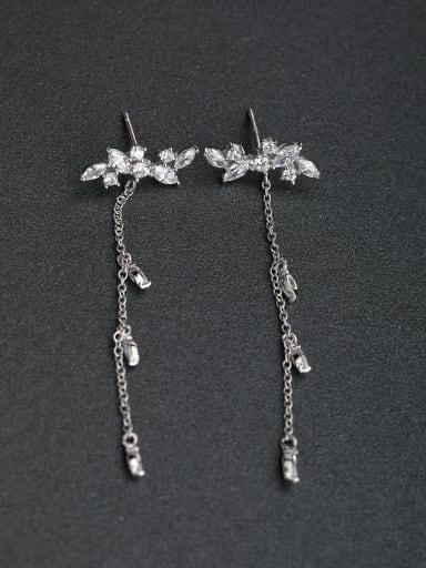 Micro inlay Rhinestone Horse Eye Stone 925 silver Stud earrings