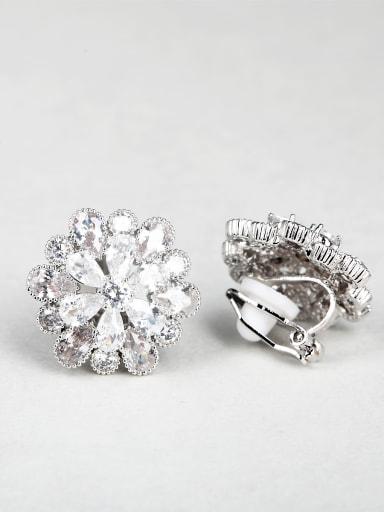 Shiny zircon Flower Stud Earrings Cluster Earring