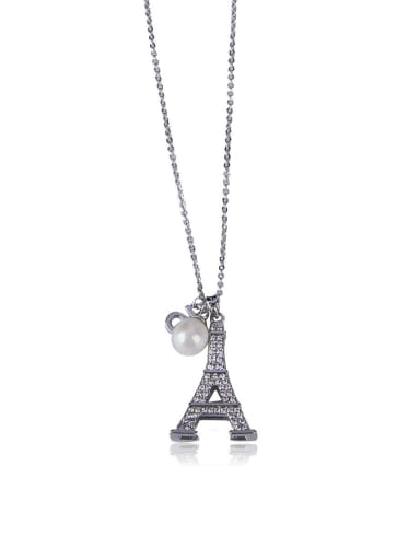 Bling bling Eiffel Tower Shaped Necklace