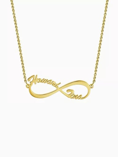18K Gold Plated Cutsomize Infinity Personalized Name Necklace 925 Sterling Silver
