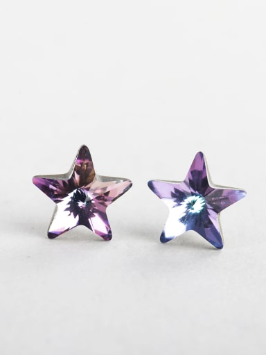 Bling bling Discoloration crystal Star Cuff Earrings