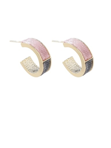 Alloy With Gold Plated Simplistic Geometric Stud Earrings