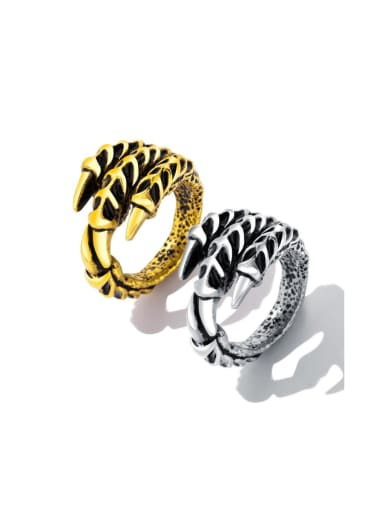Stainless Steel With Antique Silver Plated Punk Claw Men Rings