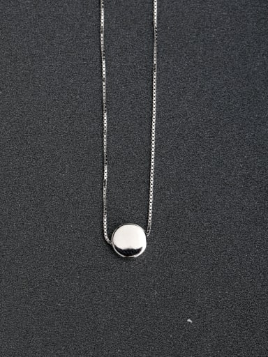 Classic round 925 Silver Necklaces Clavicular chain